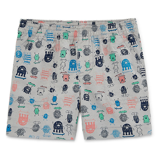 Okie Dokie Printed Pull-On Twill Shorts - Baby Boy NB-24M