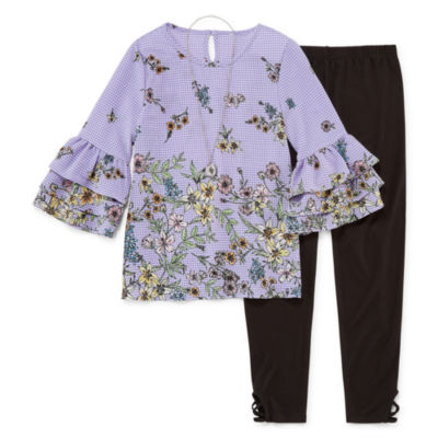 Knit Works Ruffle Sleeve Top Legging Set - Girls' 4-16 & Plus