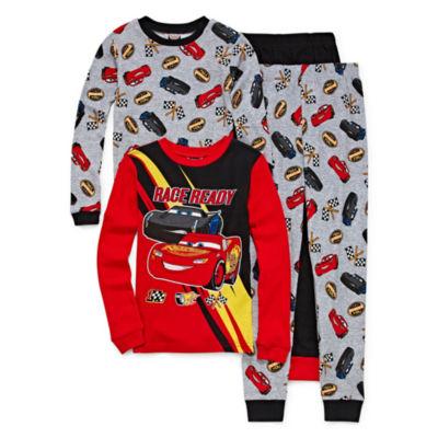 Cars 4 Piece Cotton Pajama Set - Boys 4-20