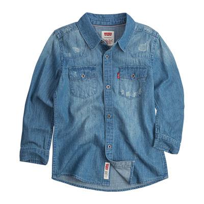 Levi's Barstow Western Shirt-Preschool Boys