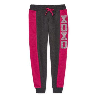 Xoxo Fleece Jogger Pants - Big Kid Girls
