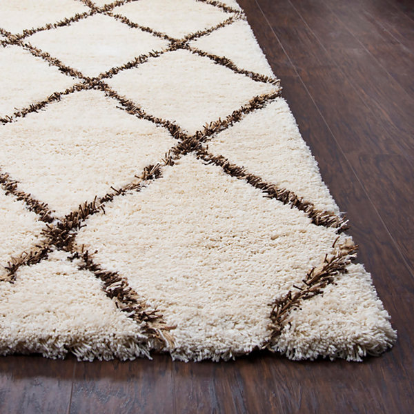 Rizzy Home Connex Collection Zoey Diamond Rectangular Rugs