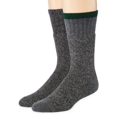 St. John's Bay Mens 2-pk. Thermal Cushion Boot Crew Socks