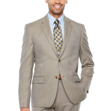 IZOD® Tan Check Suit Jacket - Classic Fit