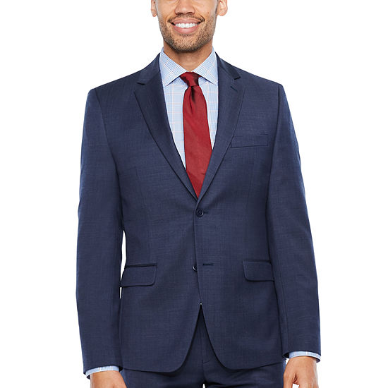 Collection by Michael Strahan  Mens Pin Dot Stretch Slim Fit Suit Jacket-Slim