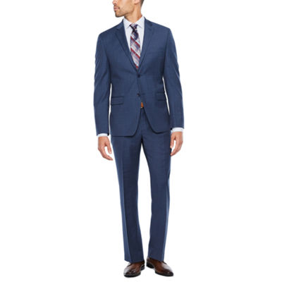Collection by Michael Strahan Blue Pattern Suit Separates-Slim