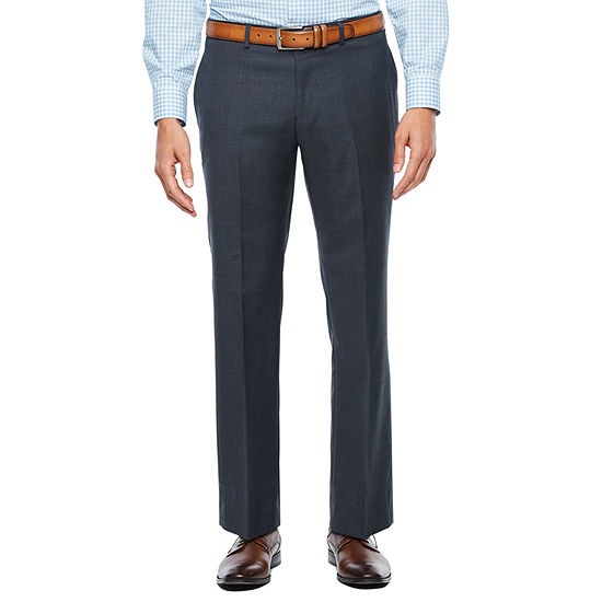 Collection by Michael Strahan Textured Gray Flat Front Stretch Slim Fit Suit Pants