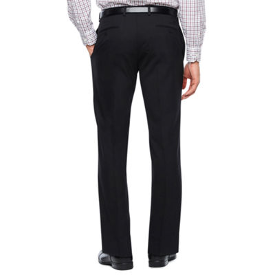 Collection by Michael Strahan Black Herringbone Stretch Slim Fit Suit Pants