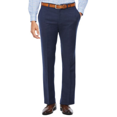 Collection by Michael Strahan Navy Tic Flat Front Stretch Slim Fit Suit Pants