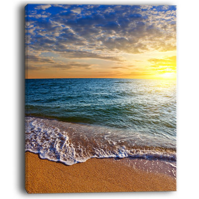 Design Art Layers Of Colors On Sunrise Beach Seascape Canvas Art Print