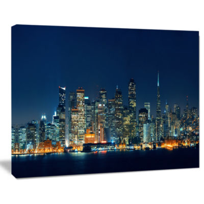 Design Art San Francisco Skyline At Night Cityscape Canvas Print