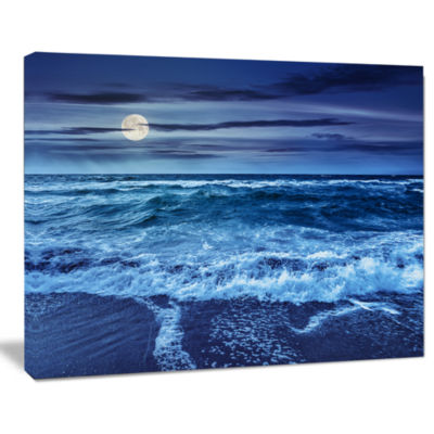 Design Art Blue Everywhere Blue Sky And Waters Seascape Canvas Art Print