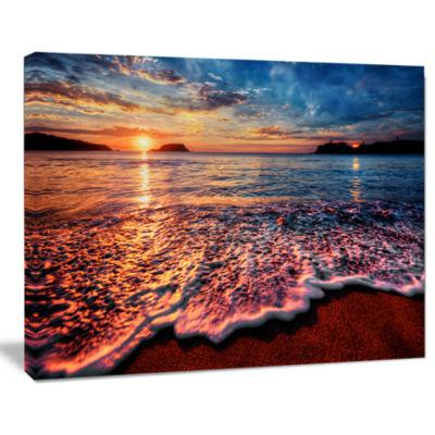 Design Art Peaceful Evening Beach View Seascape Canvas Art Print
