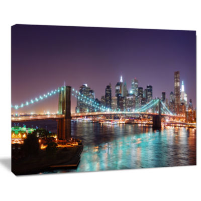 Designart New York City Manhattan Skyline PanoramaCityscape Canvas Print