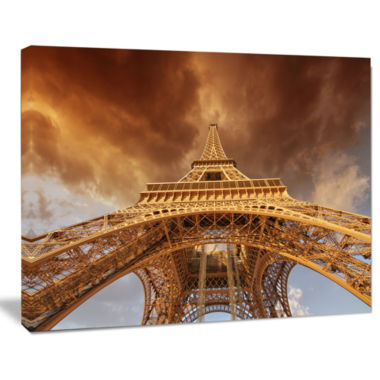 Designart Beautiful View Of Paris Eiffel Tower Cityscape Canvas Print