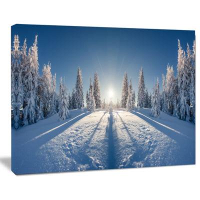 Design Art Majestic White Winter Landscape Print Wall Artwork