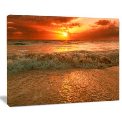 Designart Amazing Beauty Of Sun Reflection In SeaArt Canvas