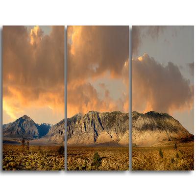 Designart Sierra Nevada Mountain Landscape CanvasArt Print - 3 Panels