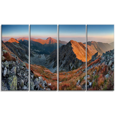 Designart Slovakia Mountains At Autumn Landscape Canvas Art Print - 4 Panels
