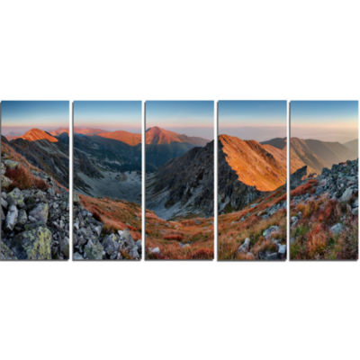 Design Art Slovakia Mountains At Autumn Landscape Canvas Art Print - 5 Panels