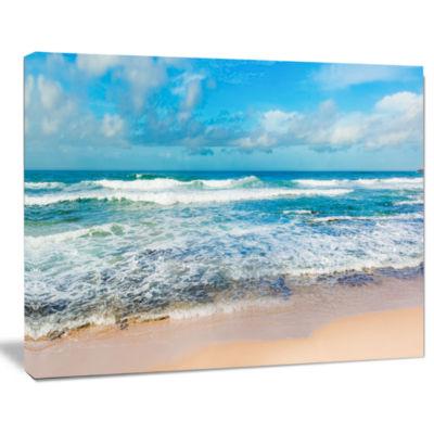 Designart Indian Ocean Panoramic View Seashore Canvas Art