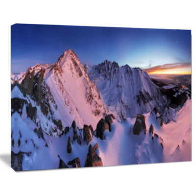Designart Slovakia Tatras Winter Mountains Landscape Canvas Art Print