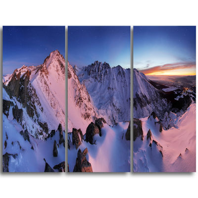 Design Art Slovakia Tatras Winter Mountains Landscape Canvas Art Print - 3 Panels