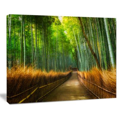 Designart Arashiyama Bamboo Grove Japan Forest Canvas Artwork