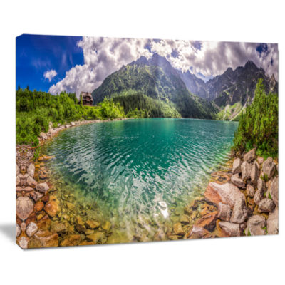 Designart Amazing Tatra Mountains Lake Landscape Print Wall Artwork