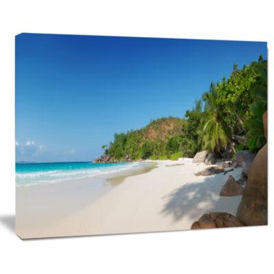 Designart Anse Georgette Beach Light Blue SeascapeArt Canvas Print