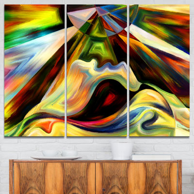 Design Art Origin Of Imagination Abstract Canvas Art Print - 3 Panels