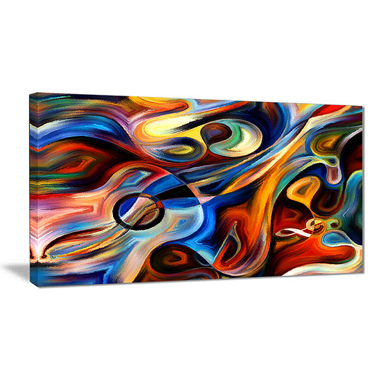 Design Art Abstract Music And Rhythm Canvas Art Print