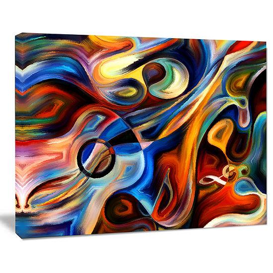 Design Art Abstract Music And Rhythm Canvas Art Print