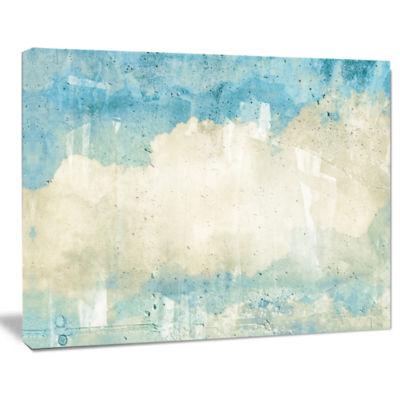 Design Art Sky On Wall Texture Abstract Canvas Artwork