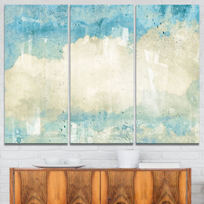 Designart Sky On Wall Texture Abstract Canvas Artwork - 3 Panels