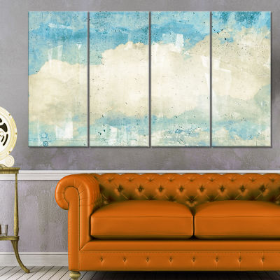 Designart Sky On Wall Texture Abstract Canvas Artwork - 4 Panels