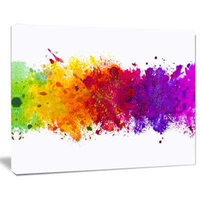Design Art Artistic Watercolor Splash Abstract Canvas Artwork