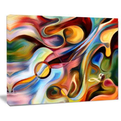 Design Art Music Beyond The Frames Music Canvas Art Print