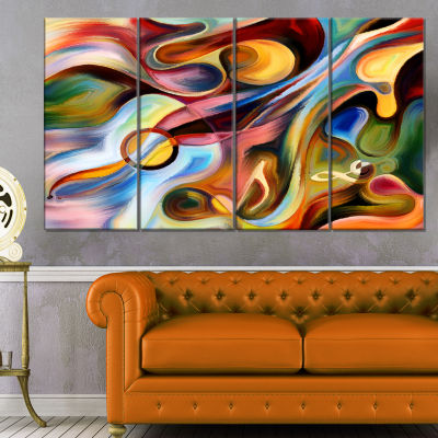 Designart Music Beyond The Frames Music Canvas ArtPrint - 4 Panels