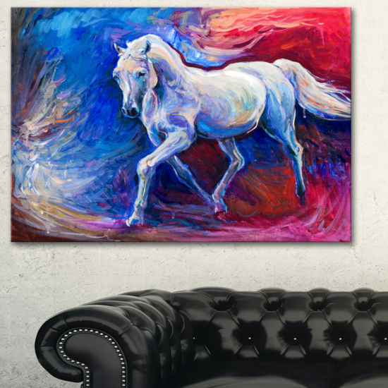 Designart Blue Horse Animal Art On Canvas