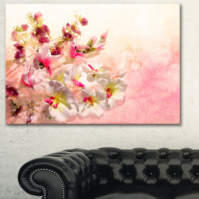 Design Art Pink Bouquet Of Flowers Art Canvas Print