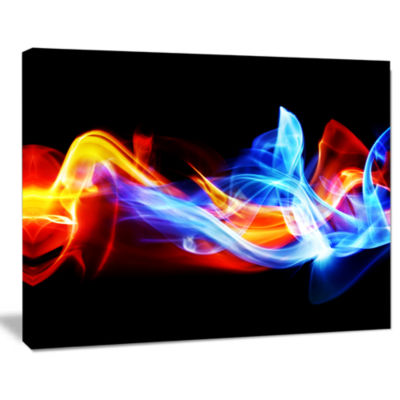 Designart Fire And Ice Abstract Canvas Print