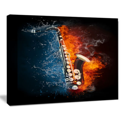 Design Art Saxophone Music Canvas Art Print