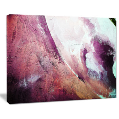 Design Art White And Purple Texture Abstract Canvas Art Print