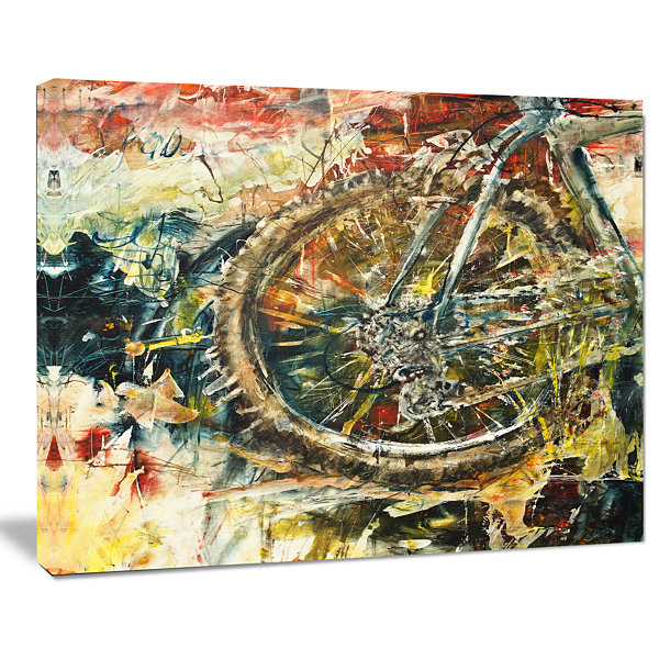 Design Art Mountain Bike Oil Painting Abstract Canvas Art work