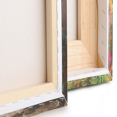 Designart Board Stained Abstract Canvas Art Print-3 Panels