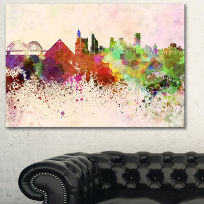 Design Art Memphis Skyline Cityscape Canvas Artwork Print