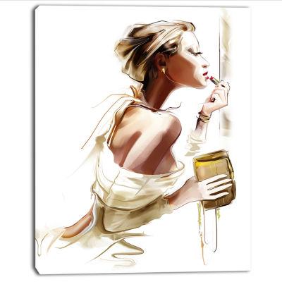 Design Art Fashion Woman Abstract Portrait Canvas Print