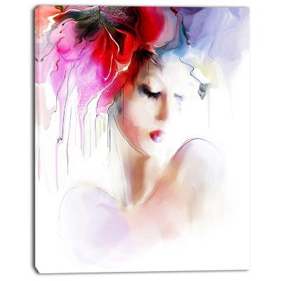 Design Art Fashion Woman Illustration Abstract Canvas Art Print