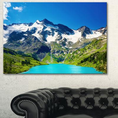 Designart Green Mountain Lake Photography Canvas Art Print